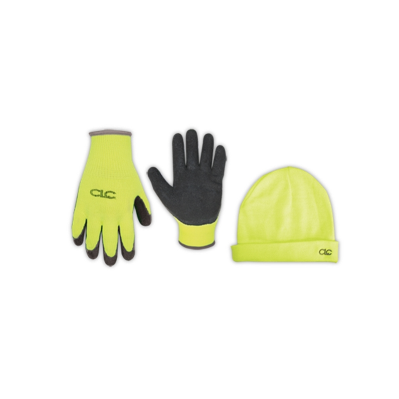 Hi-Viz Gripper Gloves-Hat Combo