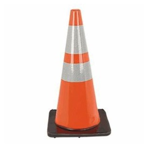 28'' Traffic Cone w/ Reflective Collars