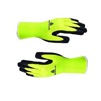 Hi-Viz Latex Gripper Gloves