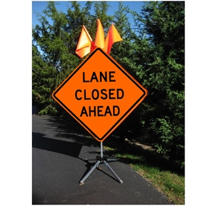 Lane Closed Ahead  - 36 x 36 Roll Up Sign