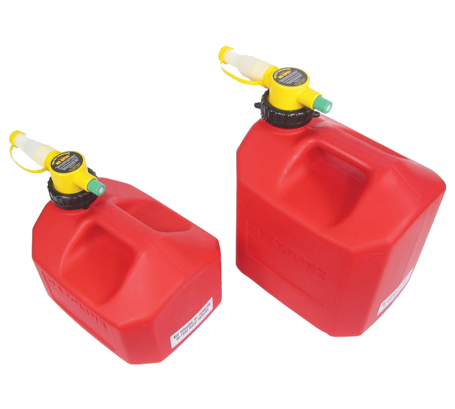 No-Spill Gas Cans