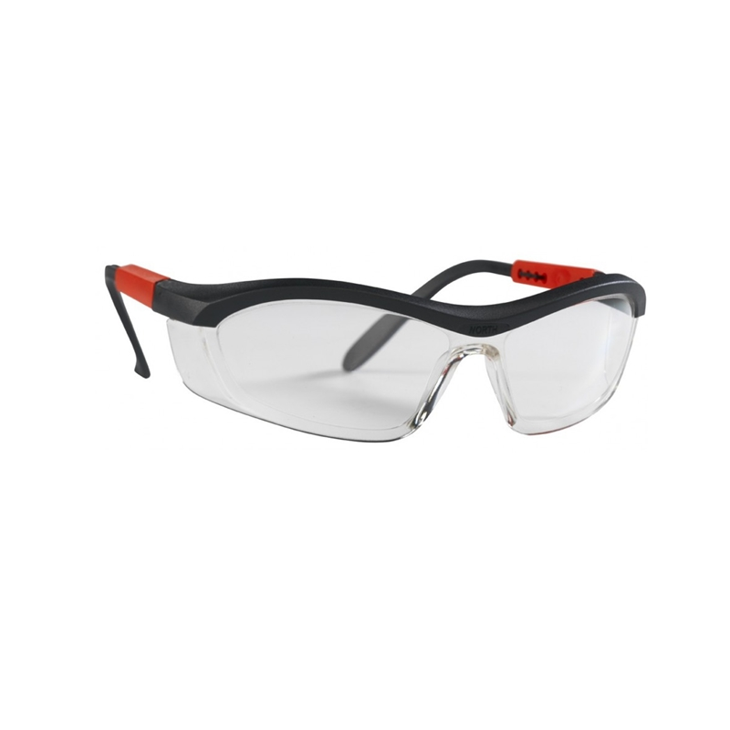 North Tornado F5 Clear Safety Glasses