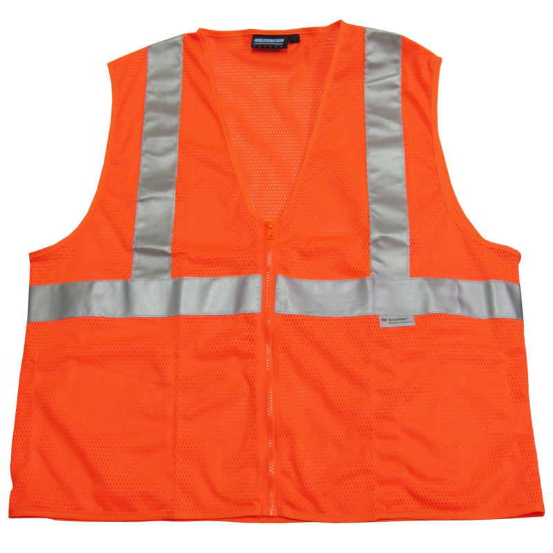 Class II Orange Safety Vest