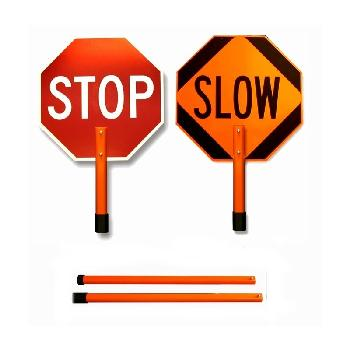 Stop-Slow Traffic Control Sign