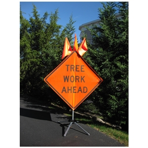 Tree Work Ahead - 36 x 36 Roll-up Sign