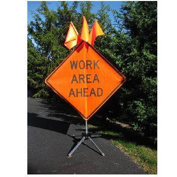 Work Area Ahead  - 36 x 36 Roll Up Sign